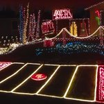 A fan created an epic #49ers-themed Christmas lights display. VIEW: http://t.co/jgR8Z7dhvB #49ersHolidays http://t.co/nrojv3OKq3