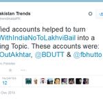 @notashutosh83b It means 3 verified Pakistani accounts helped trend #PakWithIndiaNoToLakhviBail http://t.co/lQnGEfi5Sj