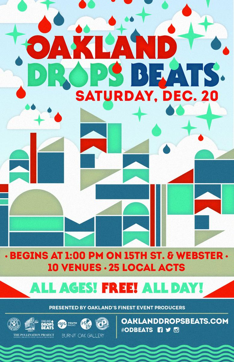 Free all-day music crawl in Downtown #Oakland this Sat! @oakdropsbeats http://t.co/UXDUsnzww4
