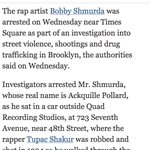 "just because Bobby Shmurda is not the rapper's real name, doesn't stop @nytimes from calling him ""Mr. Shmurda"" http://t.co/CKEhuQ9BSN"