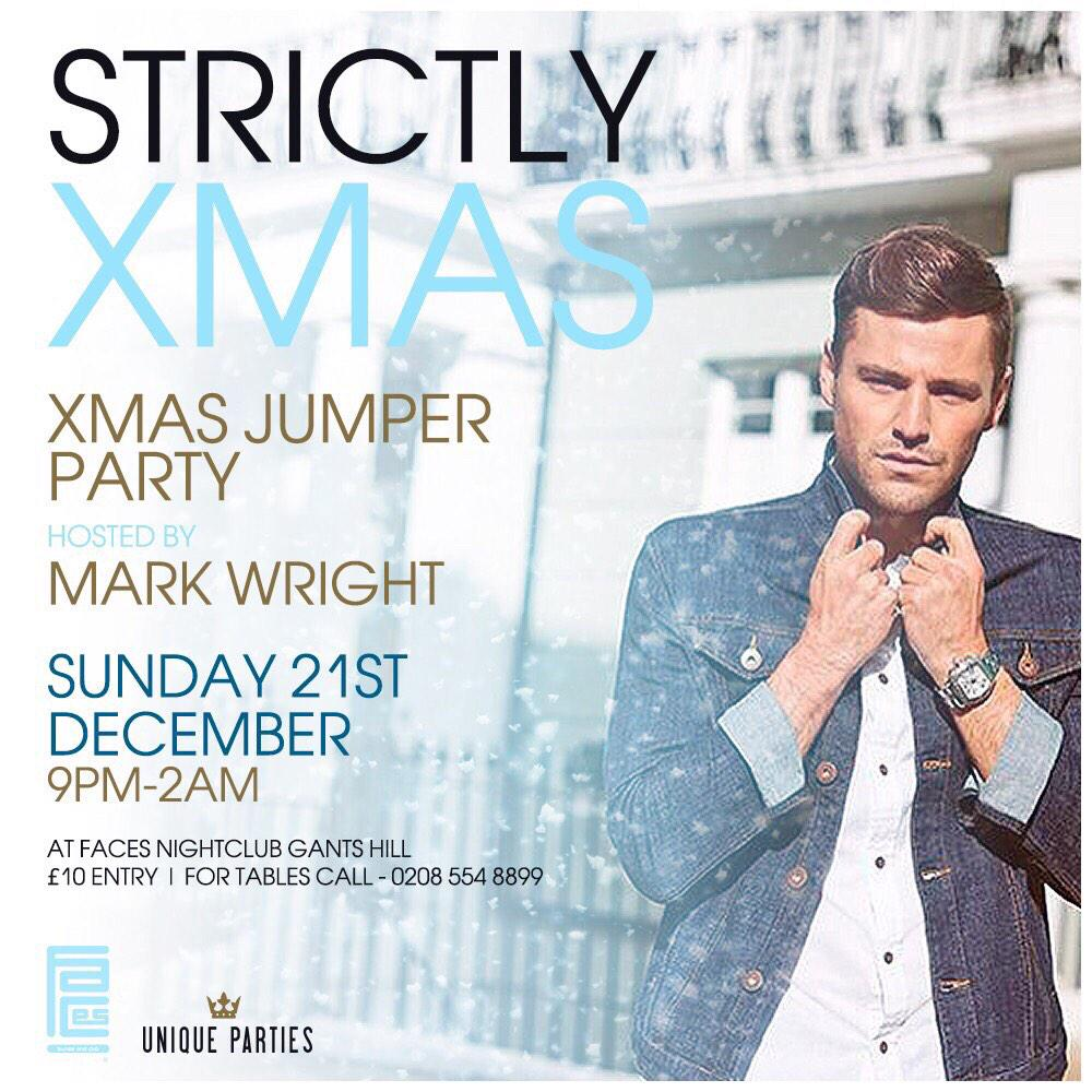 @MarkWright_ Good Luck In The Final @bbcstrictly on Sat! See you on Sunday for a Xmas Drink! http://t.co/X4IxBxdFh0