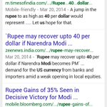INR has slipped approx 7-8% after Modi took over.The mainstream media advt that INR will surge by 35% after Modi Govt http://t.co/uGYdgqVpxO