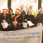 Were on Grafton St carolling for charities @RICCdub @ChildVisionVI @YSINow. €1 fron you =€1 from us! #dublin #giving http://t.co/m5ZC1va1Xk