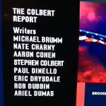 I love love love love love Stephen Colbert. And I hope his next show has more women writers. (Colbert Report: 13-1) http://t.co/EVTy2YkKp9