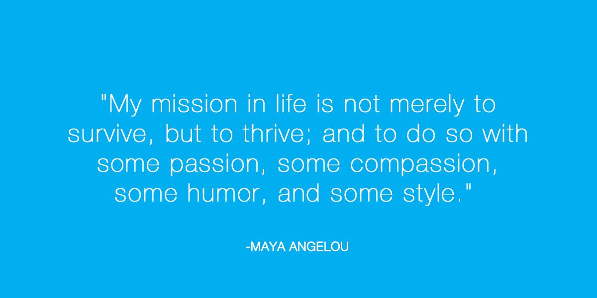 Passion, compassion, humor & style. What's your mission in life? #inspiration http://t.co/zAgtF4nxKv