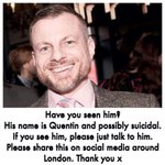 A friend has gone missing and concerned that hes hurt himself. If you see him (South London) please talk to him. RT http://t.co/GbZR0w2h02
