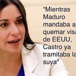 """EXCELENTES PALABRAS D @MariaCorinaYA """"Mientras Maduro mandaba a quemar visas de EEUU, Castro ya tramitaba la suya"""" http://t.co/Z0h6p7mvDu"""