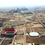 Found this aerial I shot of Mile High Stadium & McNichols Sports Arena taken in May of 1997 #broncos #nuggets http://t.co/i5eu21QAIU