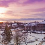 Not a bad view, right? Seriously, there cannot be a more beautiful university setting than ours. #UVM #BTV #VT http://t.co/spwg4NV44a