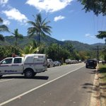 Murray Street in Manoora #Cairns blocked off. Police say 8 people including children killed @abcnews @ABCFarNorth http://t.co/WqLx8zsNBo