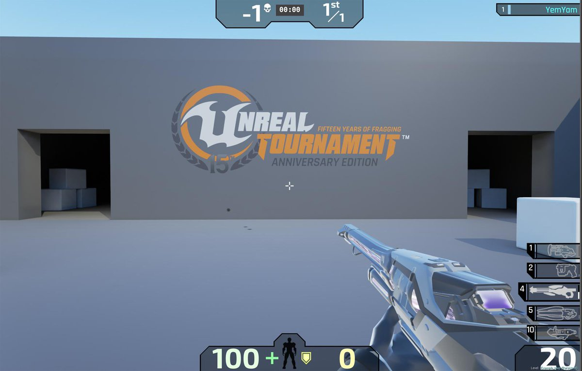 The latest versions of the Shock Rifle and Enforcer will be in the holiday build of Unreal Tournament! http://t.co/Sh8h9rpRha