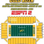 GOLD RUSH!  Bison Nation, remember to wear GOLD tomorrow!  And bring the NOISE! #BisonPride http://t.co/j3Qv4qH4NG