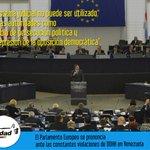 El Parlamento Europeo condena la persecución de la oposición en Venezuela http://t.co/dudvkV4Cux http://t.co/URNrqeBek4