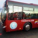 En funcionamiento nueva ruta Bicentenario de @TRANSFALCON para beneficio de 11 sectores de Punto Fijo http://t.co/66Qntvsmxp