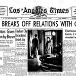 """""""@SattarSaeedi: #US & #Cuba Wednesday: break off Thursday: make up... @LATimes front page, 53 years ago and today. http://t.co/qye6mIhMrD"""""""