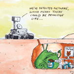 Today's cartoon: Primitive life on Mars by @GuyKeverneBody http://t.co/zLh1rS8eth http://t.co/BOZuz5cWa3