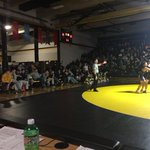 Bett JV wrestlers under way against Burlington at the Dog Pound! @Bett_Wrestling #bettpride http://t.co/z1ykWBCn5M