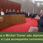 Dilma e Michel Temer são diplomados e Lula acompanha cerimônia http://t.co/S2blqcY12b http://t.co/1tICKeZb35