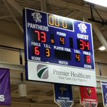 Final score at Bloomington South where #bhssgirlshoops blows out @BHSNGBB by a score of 73-34 #CatfightForACure http://t.co/x3CPBkGolt