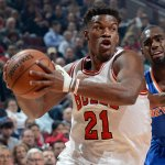 """@chicagobulls: Jimmy Butler: 17pts 6ast 3reb 2stl 1blk… at the half! Bulls lead 52-45. #NBABallot http://t.co/26kJd3654X""????????????????????"