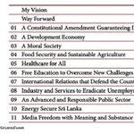 Maithripala Sirisenas #PresPollSL Manifesto launched. 100 Programs under 11 Main categories #LKA #SriLanka #my3 http://t.co/44SD8jGisn