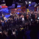 Watch a stunning collection of celebrities sing farewell to Stephen Colbert: http://t.co/vNQKDaiYnI http://t.co/vZ7fXOOUwz