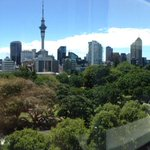 Pretty sweet view of #Auckland from the @AucklandUni Physics Department. http://t.co/8dy4JqCGU1