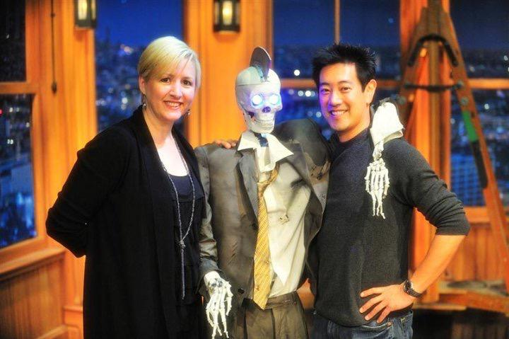Me & @grantimahara on the day of Geoff Peterson's first Late Late Show @craigyferg appearance. Will miss the show http://t.co/AHR18i5qnl