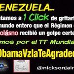 #AbajoCadenasYA Dale un golpe certero al Régimen tan sólo moviendo un dedo! Has click y da RT a #ObamaVzlaTeAgradece http://t.co/lsuMFiabh5