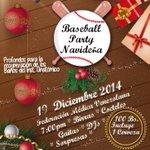 Este #19Dic No te pierdas la Gran Baseball Party Navideña en La Federación Médica-Las Mercedes!http://t.co/tWwecKFysH http://t.co/Ewy7nZ39qW