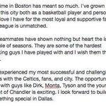 Rajon Rondo's message (combing his recent Tweets): http://t.co/DmYdUlDSXn