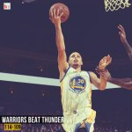 Warriors beat Thunder 114-109 behind 34 pts, 7 rebs and 9 asts from Stephen Curry! http://t.co/PqzccRmFiu