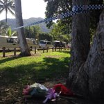 Ppl beginning to leave floral tributes at the edge of #cairns police cordon @abcnews http://t.co/WfroQlZZeI
