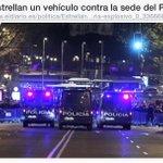 El coche ha sido estrellado x un empresario arruinado x la crisis económica d la q culpa al PP http://t.co/7Kt35lDUFq http://t.co/4gPoDiImKC