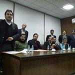 Aap member adv Jitendra addressing a gathering in bar room @AamAadmiParty @JoinAAP http://t.co/eZT4eBqaxv