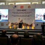 Hüseyin SÖZLÜ, Mayor Of Adana and Member of UCLG-MEWA Executive Bureau is greeting his guests.. #innovationAdana http://t.co/bZfb9JyYdn