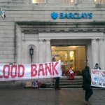 Palestine activists now locked & glued to doors of North St Barclays Brighton. Come & support action if you can http://t.co/wBbA3nDdzs