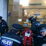Help! Santa has been nicked! One person still locked to doors Brighton Barclays #StopArmingIsrael http://t.co/2nyPpqHmaJ
