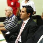 """""""Asesino, hijo de puta"""" le gritaron los familiares y víctimas del #casoYkua. Inicia la audiencia @Radio970AM http://t.co/Tc01a9xBH4"""