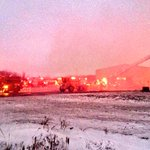Massive overnight blaze at a Rendering Plant in Atwood. 15 minutes south of Listowel. Building destroyed. http://t.co/LV0LntHwMw