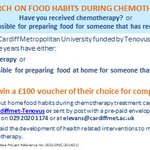 Chemotherapy patients and carers needed for food related research http://t.co/Bi2XUCXyto http://t.co/Tr4uwEVkVb