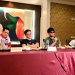 """""""@InqEnt: Robin, Rommel, Daniel & RJ Padilla, stars of """"Bonifacio,"""" w/c will have its premiere later at SM Megamall. http://t.co/XFwzO2jEMj"""""""