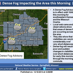 Dense fog is creating poor and sudden changes in visibilities over short distances this morning. #kswx #mowx http://t.co/vBXdHpjkD2