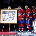 ICYMI: The @CanadiensMTL honored former captain Saku Koivu prior to Thursdays game. Watch: http://t.co/MEBawjI7Pd http://t.co/MwgGOaGGjl