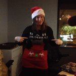 Christmasy in the control room at CHOM. @HeatherBackman rockin the almost-ugly Xmas sweater. http://t.co/c3Q5qNCv1Y