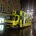 Our friends at @YorksAmbulance have their fab CMU on Briggate for minor injuries tonight in #Leeds. #choosewell http://t.co/BEp5FTXacR