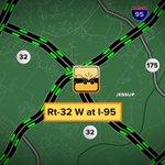 CRASH: Rt-32 West at I-95. #GMM2 http://t.co/IJuFzUvZ3R
