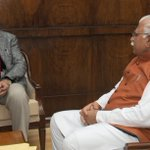 CM of Haryana, Shri Manohar Lal Khattar calling on the PM, Shri @narendramodi, in New Delhi http://t.co/7Zv1WIsDJU