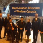 """Honoured to be part of the renaming ceremony of the now """"Royal"""" Aviation Museum of Western Canada. @DeanneCrothers http://t.co/c35VXrKXtZ"""