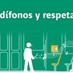 ???? Sabemos que aman la música, pero por favor: si usas el transporte público, respeta a los demás y usa audífonos ???? http://t.co/tZmnm1xeLl